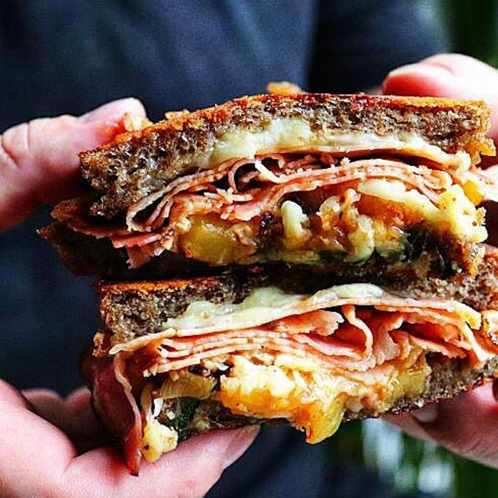 Hawaiian Pizza Sandwich